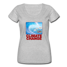 Load image into Gallery viewer, Climate Change - Women's Scoop Neck T-Shirt - heather gray
