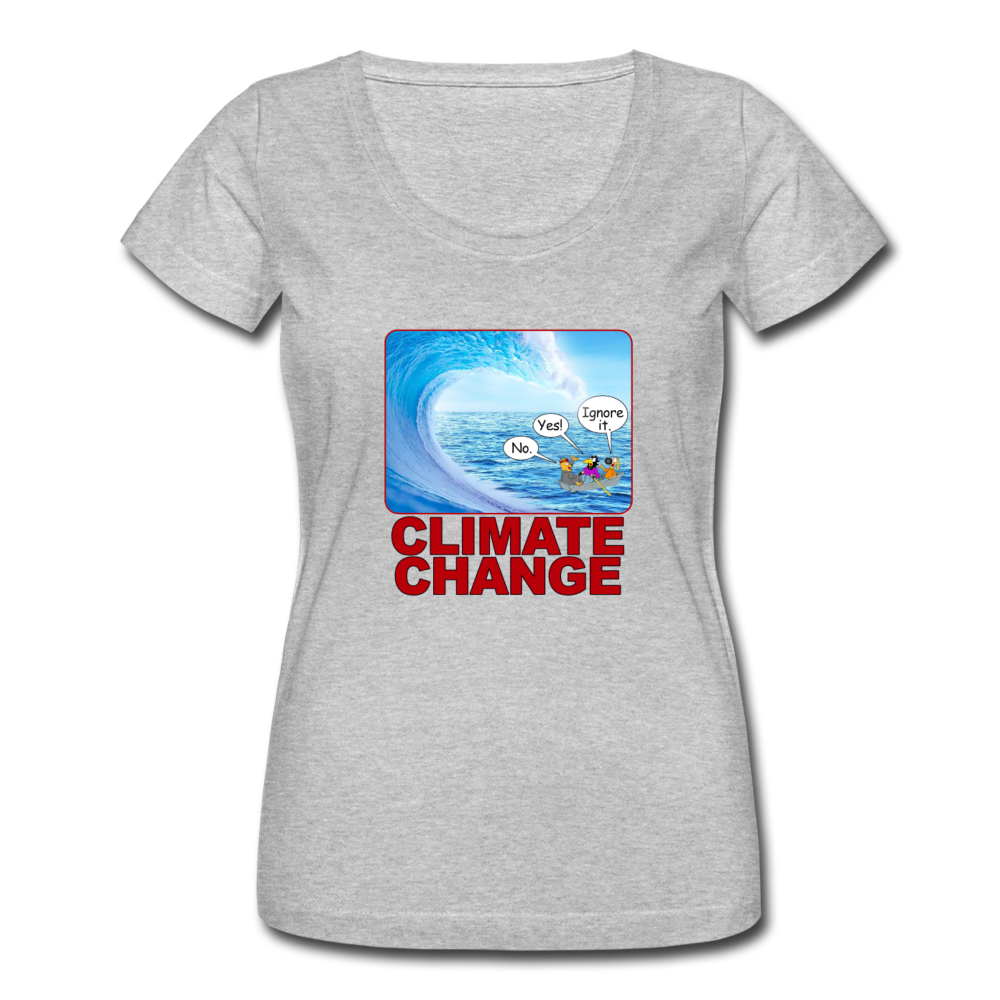 Climate Change - Women's Scoop Neck T-Shirt - heather gray