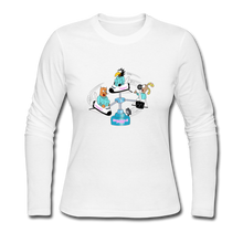 Load image into Gallery viewer, Shuttle Fun - Women's Long Sleeve Jersey T-Shirt - white