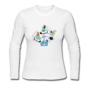 Shuttle Fun - Women's Long Sleeve Jersey T-Shirt - white