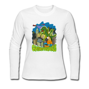 Grasshoppersaurus - Women's Long Sleeve Jersey T-Shirt - white