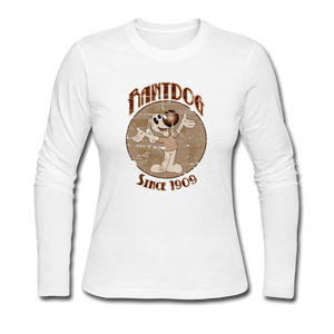 Retro Rantdog Since 1909 Sepia - Women's Long Sleeve Jersey T-Shirt - white