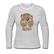 Load image into Gallery viewer, Retro Rantdog Since 1909 Sepia - Women's Long Sleeve Jersey T-Shirt - gray
