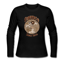 Load image into Gallery viewer, Retro Rantdog Since 1909 Sepia - Women's Long Sleeve Jersey T-Shirt - black