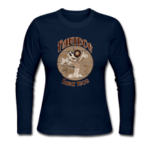 Load image into Gallery viewer, Retro Rantdog Since 1909 Sepia - Women's Long Sleeve Jersey T-Shirt - navy