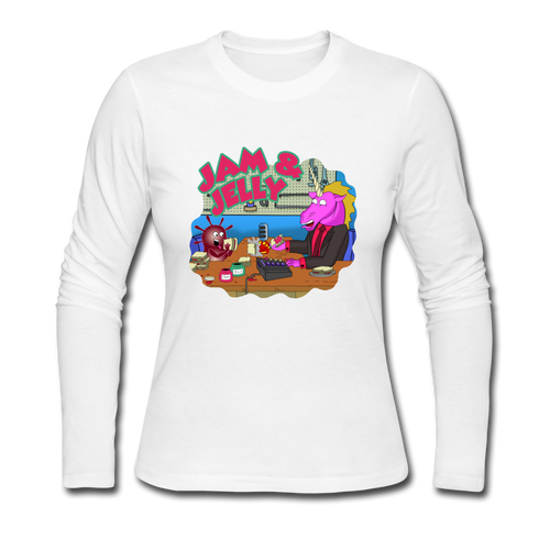 It's Not About Larry Jam & Jelly - Women's Long Sleeve Jersey T-Shirt - white