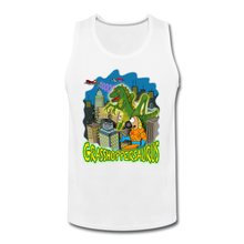Load image into Gallery viewer, Grasshoppersaurus - Men's Premium Tank - white