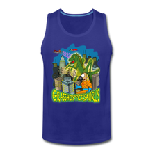 Load image into Gallery viewer, Grasshoppersaurus - Men's Premium Tank - royal blue