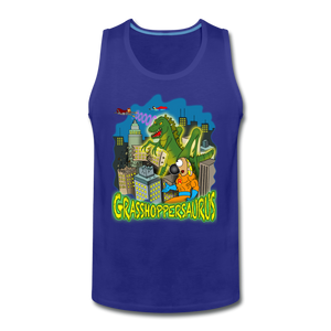Grasshoppersaurus - Men's Premium Tank - royal blue
