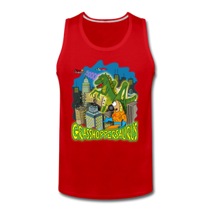 Grasshoppersaurus - Men's Premium Tank - red