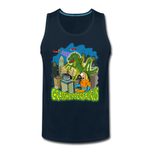 Load image into Gallery viewer, Grasshoppersaurus - Men's Premium Tank - deep navy
