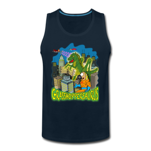 Grasshoppersaurus - Men's Premium Tank - deep navy