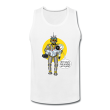 Load image into Gallery viewer, Rantdog & Robot - Men's Premium Tank - white