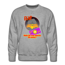 Load image into Gallery viewer, [ositive Patch Make Your Worries Go Away - Men's Premium Sweatshirt - heather gray
