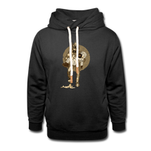 Load image into Gallery viewer, Retro Robot & Rantdog - Unisex Shawl Collar Hoodie - black