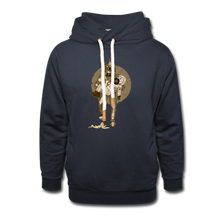Load image into Gallery viewer, Retro Robot & Rantdog - Unisex Shawl Collar Hoodie - navy