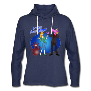 It's Not About Larry Larry Mumba Deb - Unisex Lightweight Terry Hoodie - heather navy