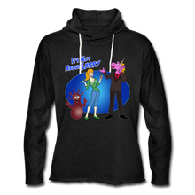 Load image into Gallery viewer, It's Not About Larry Larry Mumba Deb - Unisex Lightweight Terry Hoodie - charcoal gray