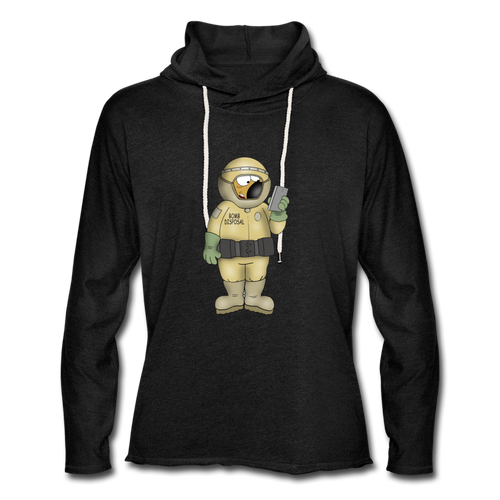 Bomb Disposal - Unisex Lightweight Terry Hoodie - charcoal gray