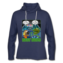 Load image into Gallery viewer, Best Buds - Unisex Lightweight Terry Hoodie - heather navy