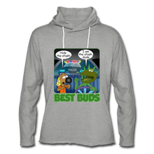 Load image into Gallery viewer, Best Buds - Unisex Lightweight Terry Hoodie - heather gray