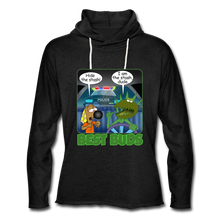 Load image into Gallery viewer, Best Buds - Unisex Lightweight Terry Hoodie - charcoal gray