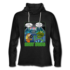 Best Buds - Unisex Lightweight Terry Hoodie - charcoal gray