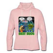 Load image into Gallery viewer, Best Buds - Unisex Lightweight Terry Hoodie - cream heather pink