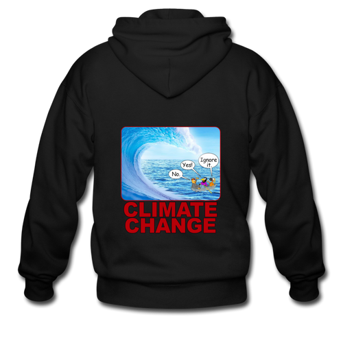 Climate Change - Men's Zip Hoodie - black