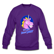 Load image into Gallery viewer, It's Not About Larry Larry - Crewneck Sweatshirt - purple