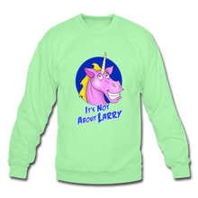 Load image into Gallery viewer, It's Not About Larry Larry - Crewneck Sweatshirt - lime