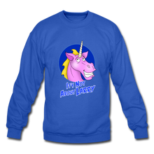 Load image into Gallery viewer, It's Not About Larry Larry - Crewneck Sweatshirt - royal blue