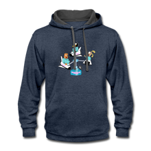 Load image into Gallery viewer, Shuttle Fun - Contrast Hoodie - indigo heather/asphalt