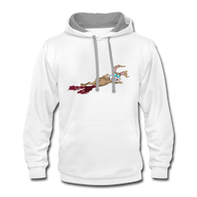 Load image into Gallery viewer, Bloody Bunny - Contrast Hoodie - white/gray