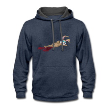 Load image into Gallery viewer, Bloody Bunny - Contrast Hoodie - indigo heather/asphalt
