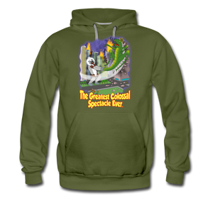 King Cotton Top Let's Fly - Men's Premium Hoodie - olive green
