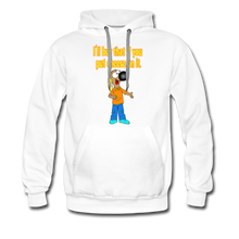 Load image into Gallery viewer, Rantdog Put Cheese On It - Men's Premium Hoodie - white