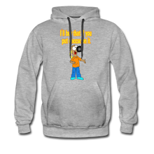 Load image into Gallery viewer, Rantdog Put Cheese On It - Men's Premium Hoodie - heather gray