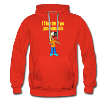 Load image into Gallery viewer, Rantdog Put Cheese On It - Men's Premium Hoodie - red