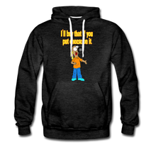 Load image into Gallery viewer, Rantdog Put Cheese On It - Men's Premium Hoodie - charcoal gray