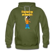 Load image into Gallery viewer, Rantdog Put Cheese On It - Men's Premium Hoodie - olive green
