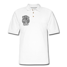 Load image into Gallery viewer, Retro Rantdog Since 1909 1909 B&W - Men's Pique Polo Shirt - white