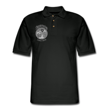 Load image into Gallery viewer, Retro Rantdog Since 1909 1909 B&W - Men's Pique Polo Shirt - black
