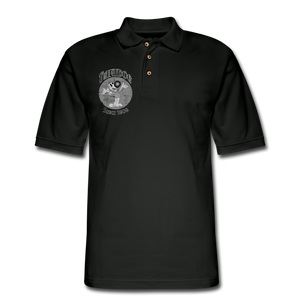 Retro Rantdog Since 1909 1909 B&W - Men's Pique Polo Shirt - black
