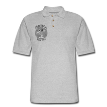 Load image into Gallery viewer, Retro Rantdog Since 1909 1909 B&W - Men's Pique Polo Shirt - heather gray