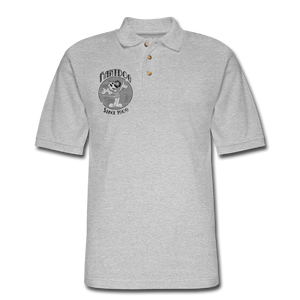 Retro Rantdog Since 1909 1909 B&W - Men's Pique Polo Shirt - heather gray