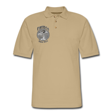 Load image into Gallery viewer, Retro Rantdog Since 1909 1909 B&W - Men's Pique Polo Shirt - beige