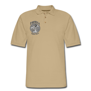Retro Rantdog Since 1909 1909 B&W - Men's Pique Polo Shirt - beige