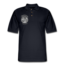Load image into Gallery viewer, Retro Rantdog Since 1909 1909 B&W - Men's Pique Polo Shirt - midnight navy