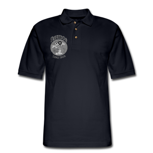 Retro Rantdog Since 1909 1909 B&W - Men's Pique Polo Shirt - midnight navy